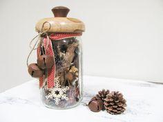 Mason Jar Gift  Wood Top  Christmas Present  Pine by HomeRefinery1