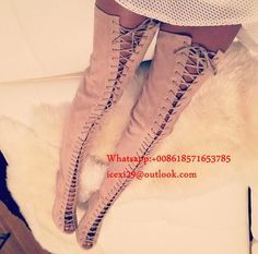 807d22f89321 Lace Up thigh high boots summer gladiator shoes Long Boots