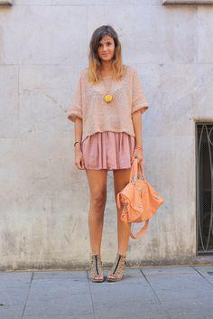 peachy colors + balenciaga