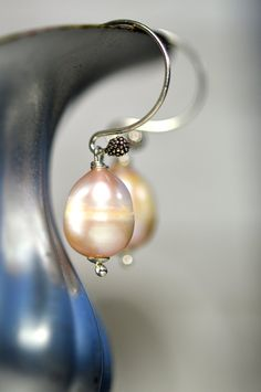 Pearl Earrings Christmas Earrings Rose Earrings Wedding