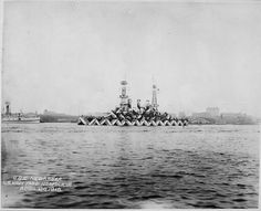 Dazzle camouflage was a military camouflage paint scheme used extensively during World War I. Without effective means to disguise ships in all weathers, the dazzle technique was employed, not to conceal the ship but to make it difficult for the enemy to estimate its type, size, speed and direction of travel. From Public Domain Review.