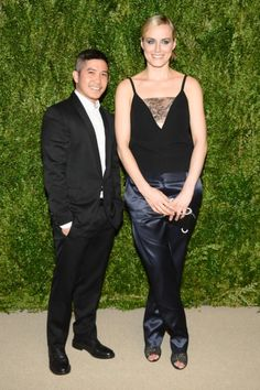 Thakoon Panichgul with Orange Is the New Black star Taylor Schilling.