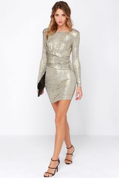 d898999ff0c Olive  amp  Oak Young Money Gold Dress at Lulus.com! Young Money