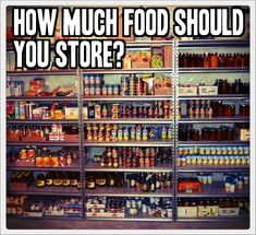 How Much Food Should You Store? In the past few day's we have brought you 2 articles on how to start building your food storage inexpensively. Feed a family