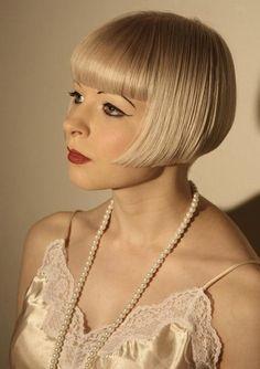 blonde flapper hair