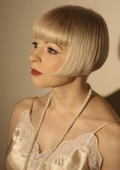 blonde flapper hair