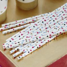 Papierstrohhalme – Confetti Party Serie