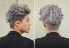 Gray and lavender hair!