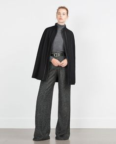 ZARA - NEW IN - CONTRASTING PIPED CAPE