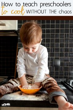 Want to teach your toddler and preschoolers to cook, but get discouraged at the stress and mess of it all? Here are some tips to help you teach the without the chaos. #TruMooCalciumPlus #New
