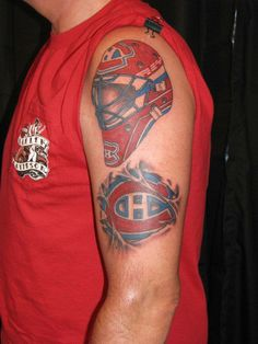 Soumis par / Submitted by Robert Sutherland (Facebook) Family Tattoos For Men, Tattoos For Guys, Montreal Canadiens, Montreal Tattoo, Tatting, Facebook, Hockey Goalie, Piercing, Tattoo Ideas
