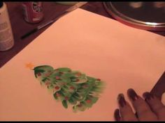 East to paint Christmas tree-I have done this and it's easy to do once you practice!