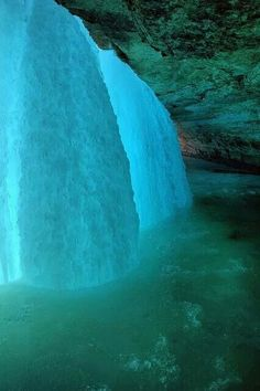 Frozen Minnehaha Falls, Minneapolis, MN #Earth Porn