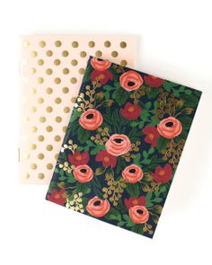 Our Rosa Pocket Notebooks come in a set of two and feature our Rosa Florals with gold foil detailing. Rosa Pocket Notebooks by Rifle Paper Co. Home & Gifts - Gifts - Stationery & Office Austin, Texas The Notebook, Pocket Notebook, Notebook Covers, Gold Foil Print, Rifle Paper Co, Foil Stamping, Paper Roses, Dot And Bo, Boutique