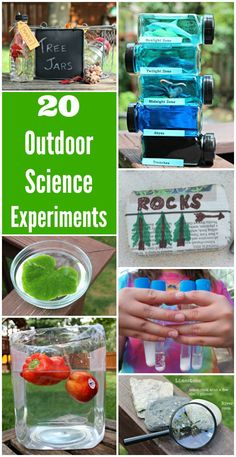 Fun ideas for outdoor learning with easy science experiments for kids tweens & teens! Explore plants animals physics chemistry and more! These hands on science ideas are great for summer activities classroom science outside and homeschool science units to Outdoor Activities For Kids, Outdoor Learning, Kids Learning Activities, Outdoor Education, Stem Activities, Outdoor Play, Nature Activities, Educational Activities, Learning Activities For Kids