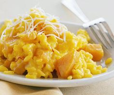 Bright orange squash makes an Italian risotto that's a great side dish in the fall or winter.