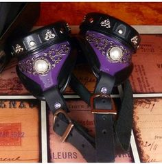 Noble Aristocrat Purple Steampunk Goggles