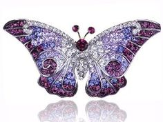 Amazon.com: Empress Monarch Purple Winged Butterfly Swarovski Crystal Rhinestone Pin Brooch: Jewelry