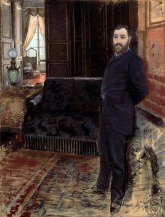 Giuseppe De NITTIS  Autoritratto, 1884, Barletta, Pinacoteca Giuseppe De Nittis