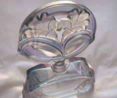 Vintage Art Deco Czechoslovakian Perfume Bottle Boudoir  Art Glass  Signed by  J Pesnicak.