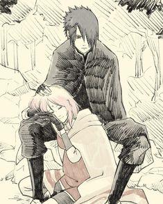 Sasuke and Sakura Anime Naruto, Naruto Fan Art, Naruto Comic, Naruto Cute, Manga Anime, Sasuke Uchiha Sakura Haruno, Naruto Shippuden Sasuke, Naruto Kakashi, Shikamaru