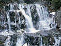 Katahdin Stream Falls, Baxter State Park, Near Millinocket, Maine, New England, USA Photographic Print