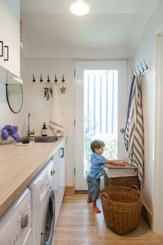 """Our Laundry Renovation (and my Tradie Recommendations) Determine additional details on """"laundry room storage diy cabinets"""". Take a look at our web site. Small Laundry, Laundry In Bathroom, Laundry Rooms, Basement Laundry, Laundry Tubs, Rental Bathroom, Laundry Closet, Bathrooms, Home Renovation"""