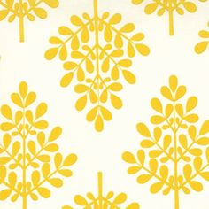 Love the modern take on damask - looks like it'd be easy to make into a stencil, too. Pretty Patterns, Color Patterns, Arabesque, Yellow Tree, Happy Colors, Fabric Wallpaper, Mellow Yellow, Surface Pattern Design, Textile Patterns