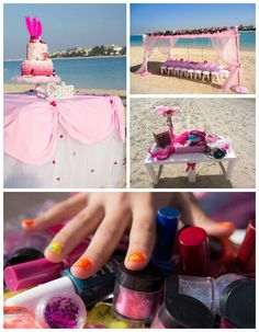 Seaside Spa birthday party with Lots of Really Cute Ideas via Kara's Party Ideas | Cake, decor, cupcakes, favors, printables, and MORE! Kara...