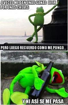 Av eces me dan unas ganas Funny Spanish Memes, Spanish Humor, Funny As Hell, Funny Love, Funny Quotes, Funny Memes, Hilarious, Mexico Funny, Sapo Meme