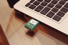 BMO 4GB usb flash drive - Adventure time laser cut acrylic beemo USB drive on Etsy, $21.50