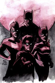 Batman Family - Aaron Felizmenio  #superheros #art #kysa