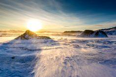 #Sunset / #Sonnenuntergang, Vatnajökull Glacier, #Iceland