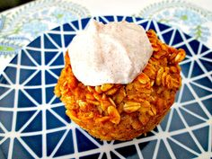 """Sweet Potato Baked Oatmeal (with """"Icing"""")"""