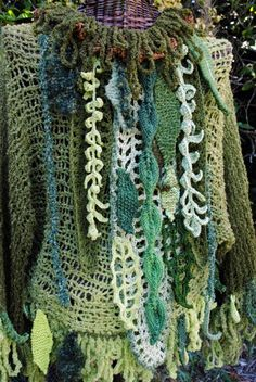 #freeform crochet - Persephone's Mantle, detail. (2010)