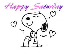 Happy Saturday - Snoopy Smiling With Lots of Hearts