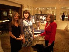 Left to right: Janet Rostron, Margaret Rostron the Great Granddaughters of Captain Rostron and myself installing the Loving Cup my Great Grandmother presented to their Great Grandfather in 1912 for his heroism and kindness.