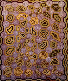 Yala Yala Gibbs Tjungurrayi / A Large Group of Tingari Men Gathered at the Site of Yinarkinya (South West of Lake Macdonald) 1988 182 x 151cm