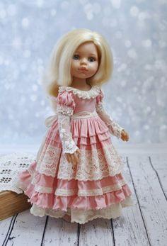 Doll Dress Patterns, Doll Sewing Patterns, Clothing Patterns, American Doll Clothes, Baby Doll Clothes, Lovely Dresses, Flower Girl Dresses, Doll Dresses, Girls Dresses