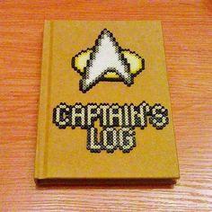 Captain's Log Star Trek hama bead creation by pm2s