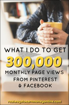 Exactly what I do to get 300,000 page views per month from Pinterest and Facebook.
