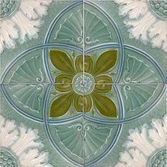 Art Nouveau Majolica Victorian - 1890 to 1910 - Ceramic Tiles