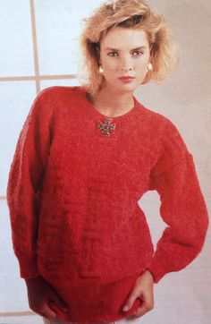 3a682dfd31be40 Items similar to Knitting Pattern Ladies  Women s DK Light Worsted Jumper  Sweater Pullover size 32-38in 81-97cm on Etsy