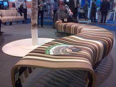 Le stand de Green Furniture Concept sur le salon Passenger Terminal Expo 2015, salon dédié aux équipements des aéroports.