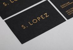 black and gold business cards by She Was Only