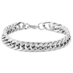 This West Coast Jewelry Men's Stainless Steel Curb Link Chain Bracelet is the classic staple he needs. Crafted with stainless steel in a silver finish, this bracelet would be a welcomed addition to any guy's collection. Silver Bracelets, Bracelets For Men, Link Bracelets, Gold Jewelry, Women Jewelry, Beaded Bracelets, Jewellery, Gold Bangles, Necklaces