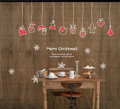Noël décoration murale Wall Art fenêtre déco par minitoba sur Etsy