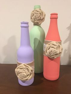 A personal favorite from my Etsy shop https://www.etsy.com/listing/487050919/bottle-decor-3-colors-3-tiered