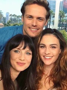 ~ Sophie Skelton (right) joins Caitriona Balfe and Sam Heughan in Outlander as Jamie and Claire's grown daughter.