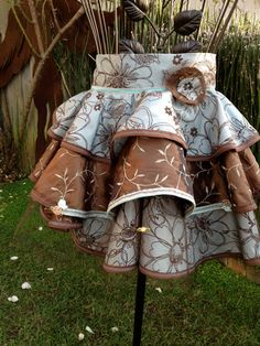 Cocoa Blue Couture Artistic Sassy Apron by Trish Vernazza Featured in Apronology Magazine